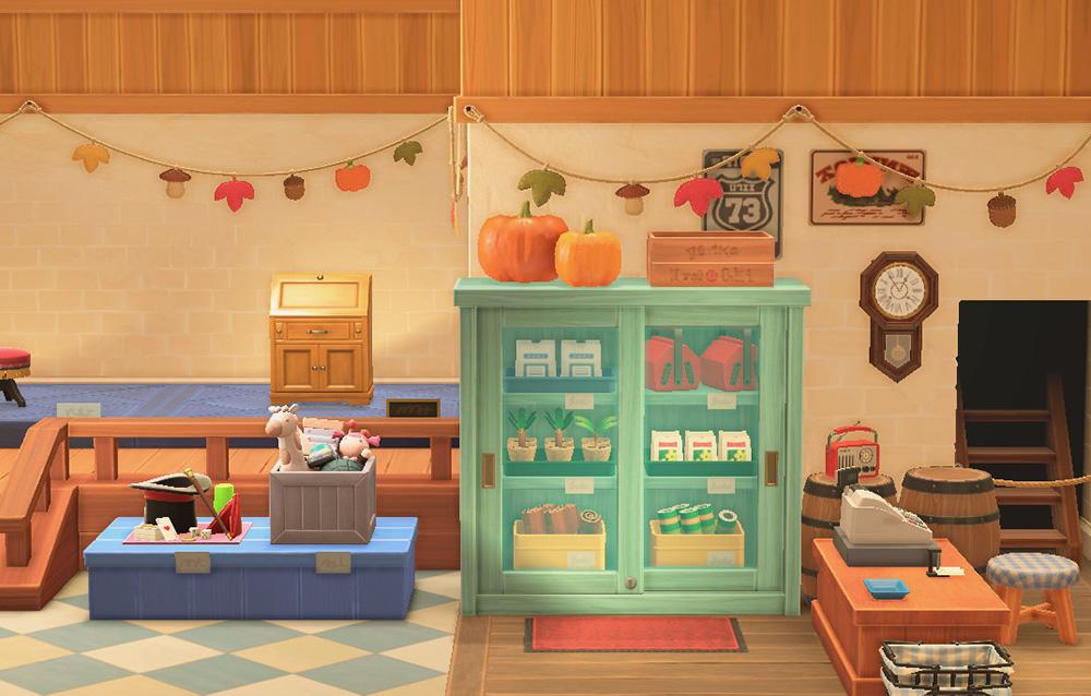 Alcuni fan appassionati di Animal Crossing e di fai da te hanno ricreato i festoni autunnali della bottega di Nook