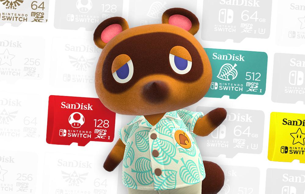 SanDisk® ha messo in vendita una MicroSD a tema Animal Crossing: New Horizons!