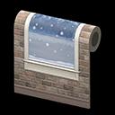 Muro nevicata