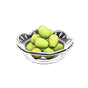 Piatto con dodici acini d'uva