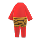 Costume da orco (Rosso)