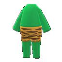 Costume da orco (Verde)