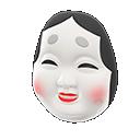 Maschera da Okame (Bianco)