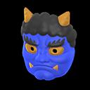 Maschera da orco (Blu)