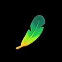 Piuma verde