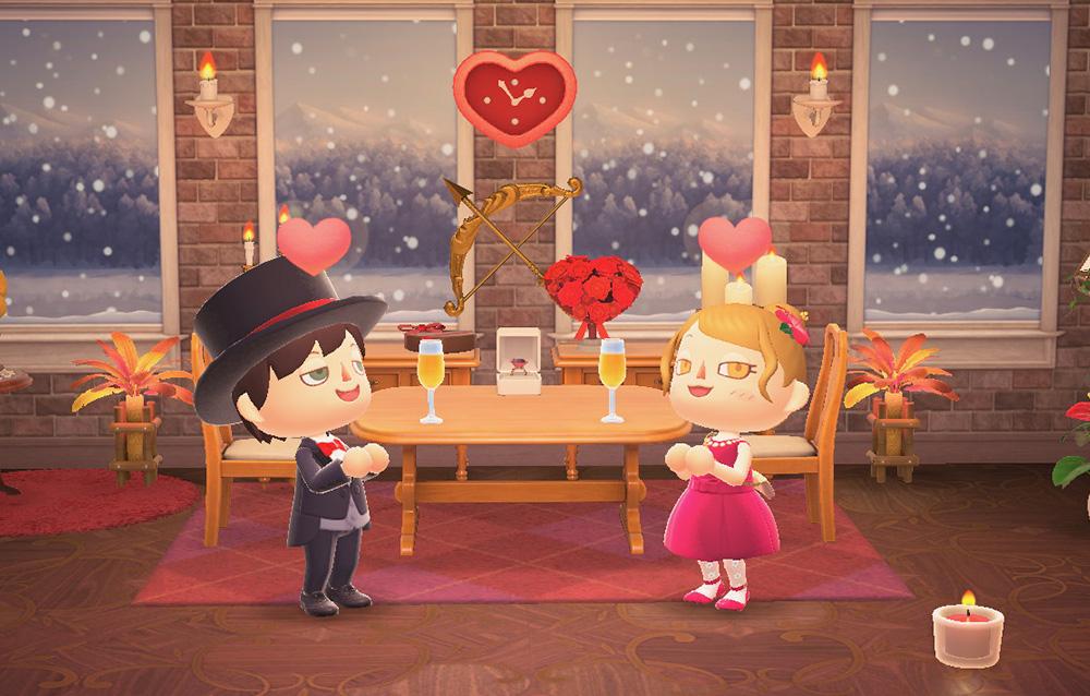 Nintendo ha condiviso delle card di San Valentino a tema Animal Crossing: New Horizons!