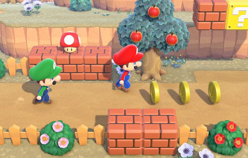 Come ottenere gli oggetti della serie Mario in Animal Crossing: New Horizons