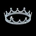 Corona ballo scolastico (Argentato)
