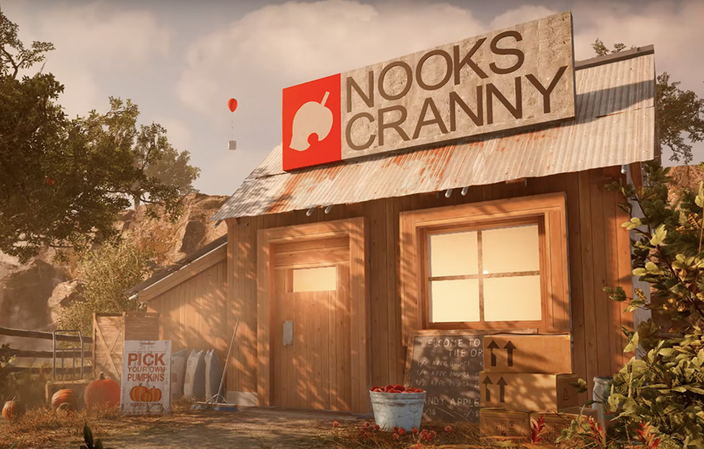 Un fan ha riprodotto la Bottega di Nook di Animal Crossing: New Horizons in Far Cry 5!