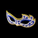 Maschera decorata (Blu)