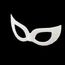 Mascherina da ballo (Bianco)