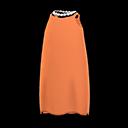 Vestito di raso (Arancio)