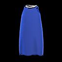 Vestito di raso (Blu)