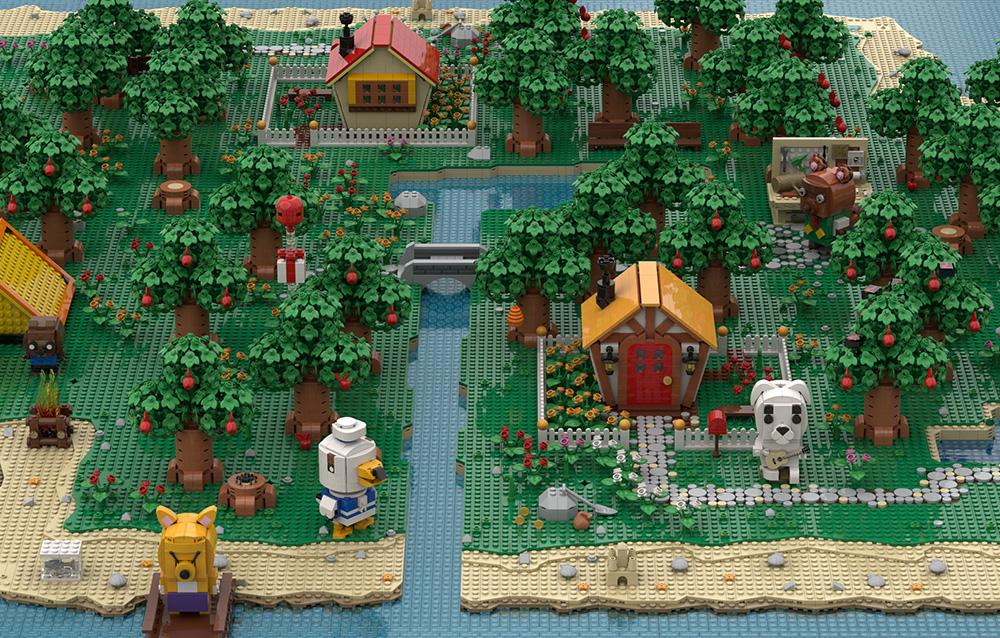 OrangeTeam LUG presenta ufficialmente la sua isola in stile LEGO® ispirata al mondo di Animal Crossing: New Horizons!