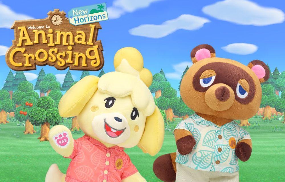 Ecco le primissime immagini dei nuovi peluche della collezione Build-a-Bear per Animal Crossing: New Horizons!