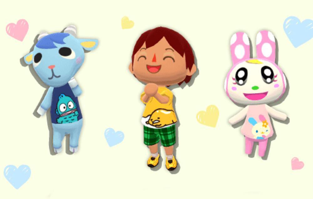 Animal Crossing: Pocket Camp, è arrivata la collezione T-shirt Sanrio Characters!
