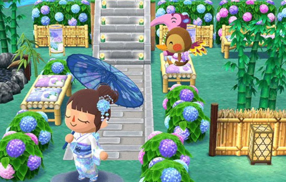 Animal Crossing: Pocket Camp, cominciato l'evento in giardino Ortensie in fiore di Fuffi!