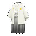 Hakama bianco con stemma (Bianco)