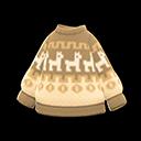 Maglione cuore dell'inverno (Beige)