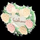 Targa da porta sposini (Bianco, Rosa)
