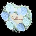 Targa da porta sposini (Blu, Rosa)