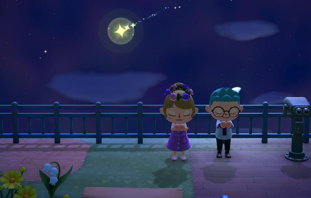 Tutto quello che c'è da sapere sul fenomeno atmosferico delle stelle cadenti in Animal Crossing: New Horizons