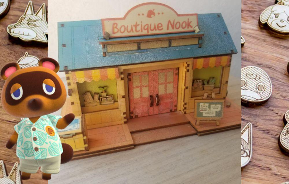 Animal Crossing: New Horizons, un utente di Reddit ha ricreato una dock station per Nintendo Switch a forma di Bottega di Nook!