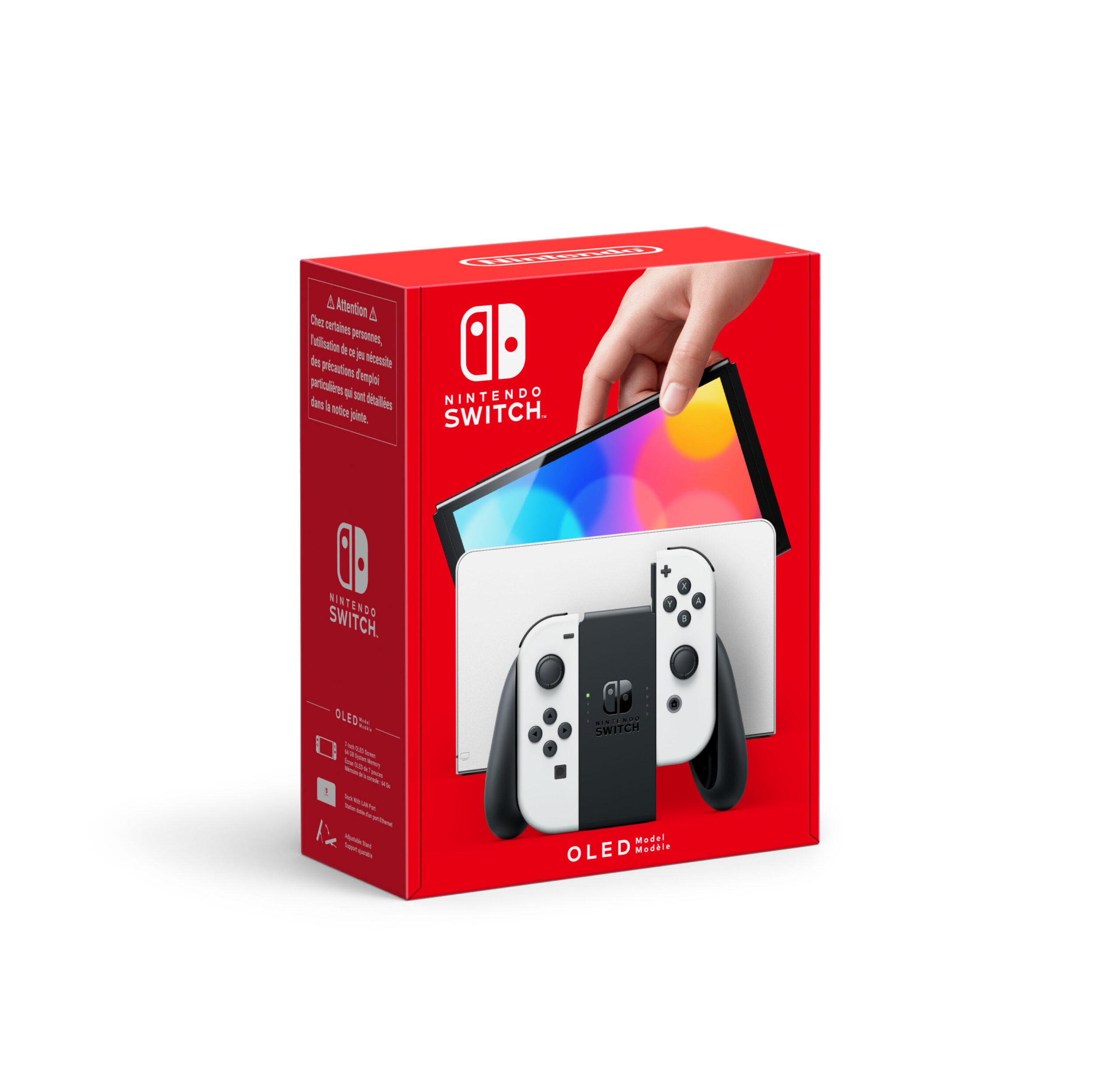 Nintendo Switch modello OLED, Bianco/Nero