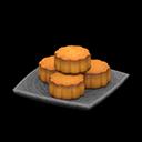 Piatto di torte lunari