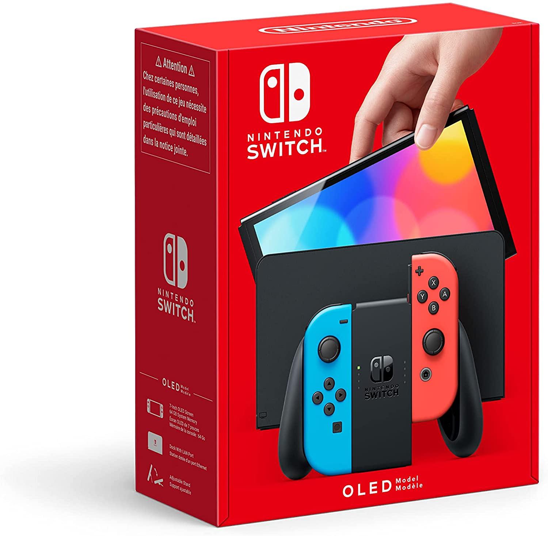 Nintendo Switch (Modello OLED), Blu Neon/Rosso Neon
