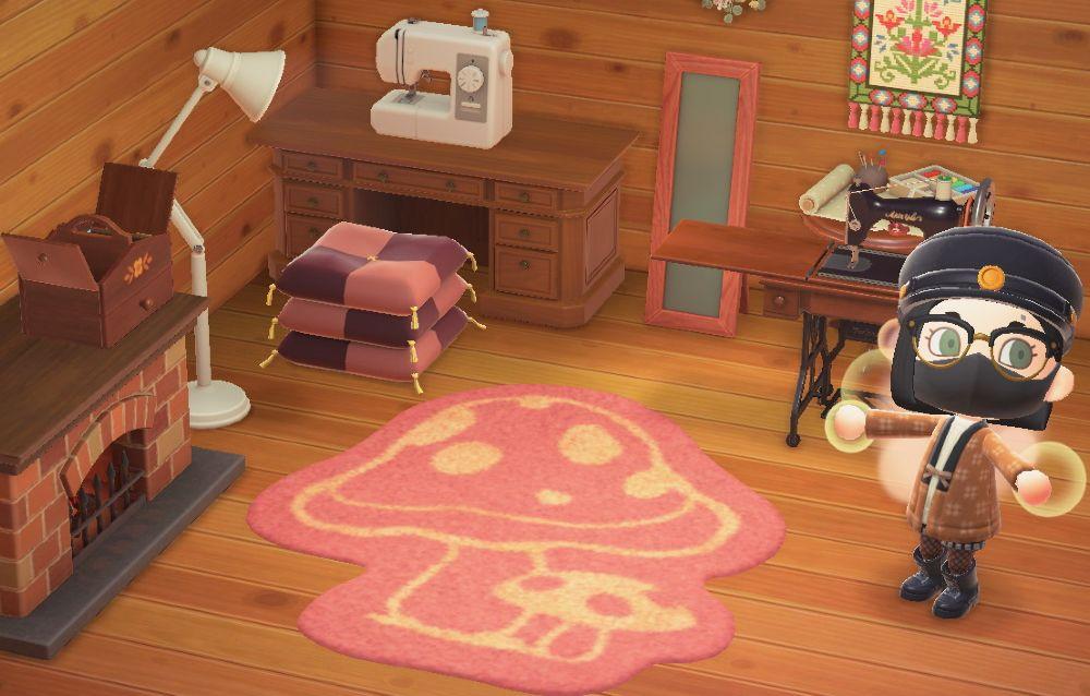 Una fan ha creato una copia perfetta del tappeto funghi di Animal Crossing: New Horizons!