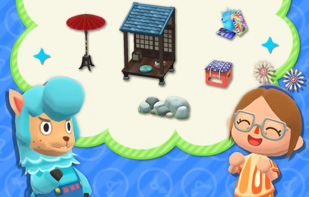 Animal Crossing: Pocket Camp, le serie Fiume delle lucciole e Fuochi d'artificio sono tornate disponibili!